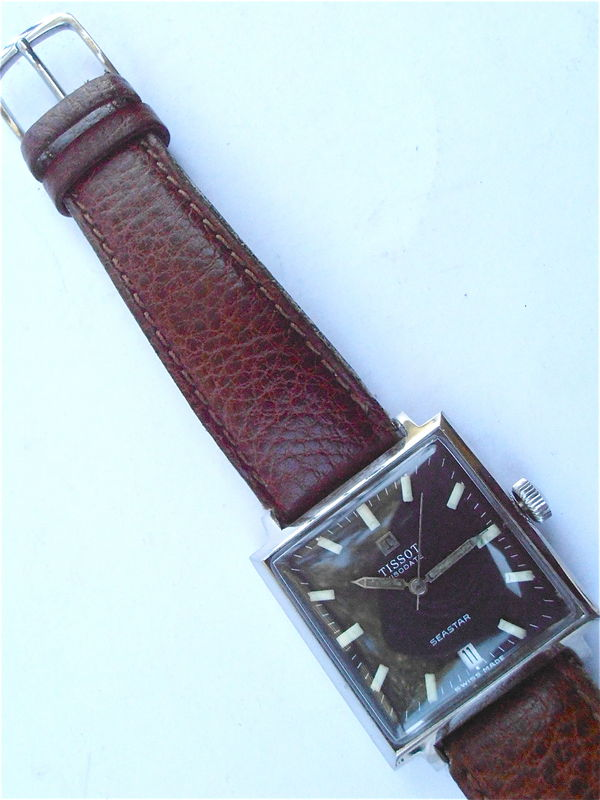 Vintage Tissot Visodate Seastar Manual Wind Stainless Steel Mens Sporty Watch Vintage 70s Tissot Square Luminous Wrist Watch European Model - product images  of