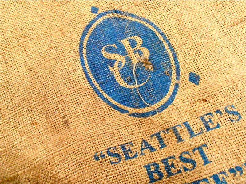 Used Coffee Bean Burlap Bag Seattles Best Inkafe Peru Jute Natural Purimac Valley Sustainable Inkafe Vrae Hessian Fabric Sack Gunny Hemp  - product images  of
