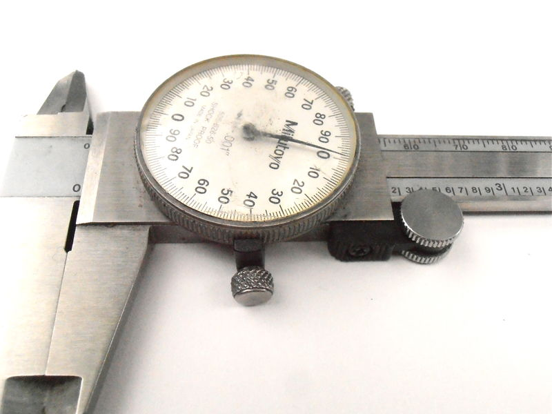 "Vintage Mitutoyo Dial Slide Caliper 001"" Inch 505 626 50 Shock Proof Japanese 150 mm Millimeter 6"" Inches Stainless Hardened Heavy Steel  - product images  of"