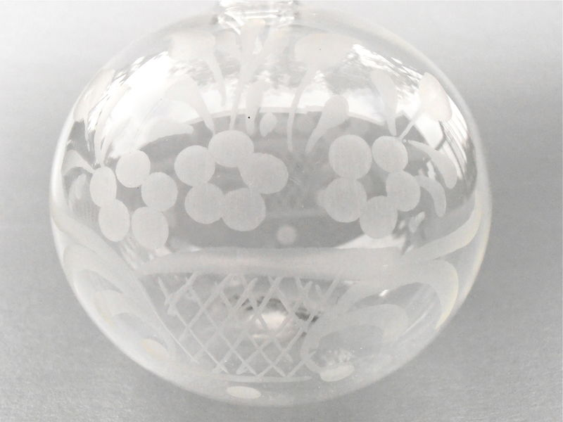 Vintage F & M Ballarin Clear Bottle Refillable Vessel Empty Decanter Vetri Artistici Soffiati Murano Glasswork Handblown Small Petite Glass - product images  of