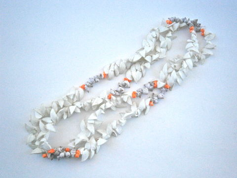 Vintage,Split,White,Seashell,Lei,Hawaiian,Necklace,Dyed,Orange,Mongo,Popcorn,Tiny,Shells,Brown,Nassa,Luau,Graduation,Wedding,Beach,Island,vintage split white ark seashell hawaiian lei necklace, vintage dyed orange hawaiian tiny mongo seashell necklace, vintage dye small hawaiian popcorn shell lei necklace, tiny brown nassa shell necklace, luau graduation wedding beach island tiny white shel