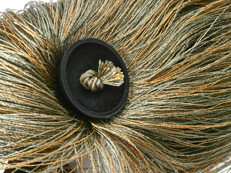 Vintage Olive Green Brown Drapery Chainette Tieback Curtain Rope Thread Cord Accessory Tassels Fringes Window Treatments Villa Collezione  - product images  of