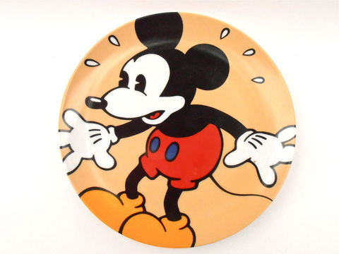 Vintage,Mickey,Mouse,In,A,Panic,Plate,Disney,Classic,Brenda,White,Clay,Artist,Collectible,Walt,Collectable,Plaque,Charger,Ceramic,mickey mouse classic plate, mouse in a panic disney classic plate, brenda white clay plates, walt disney collectibles plates, disney classic plaque, disney charger plate, cartoon ceramic clay, disney cartoon plate, disney animated, vintage mickey mouse