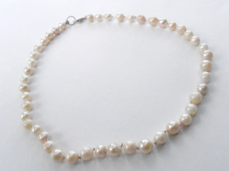 vintage pearl necklace cultured pearl necklace genuine