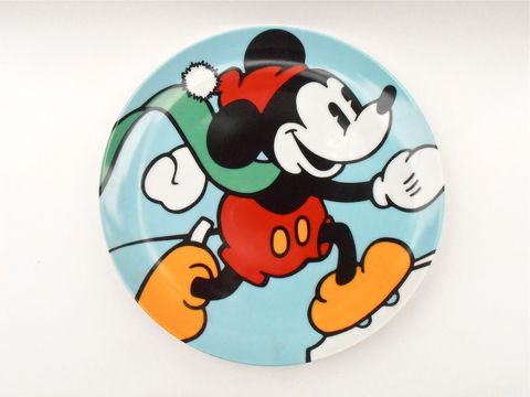 Vintage,Skating,Mickey,Mouse,Plate,Disney,Classic,Brenda,White,Clay,Artist,Collectible,Walt,Decorative,Plaque,Charger,Ceramic,Memorabilia,vintage 1996 skating mickey mouse, vintage collectible mickey mouse plate, vintage disney classic plate, mickey mouse charger plate, mickey mouse disney plaque, disney brenda white artist, disney memorabilia, walt disney classics, mickey mouse wall décor