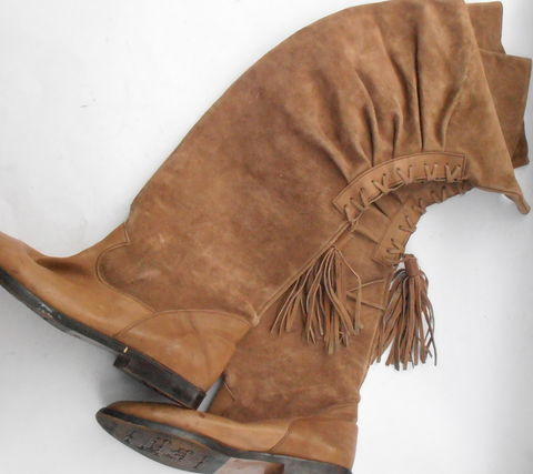 Vintage,Tan,Suede,Boots,Ladies,Over,The,Knee,Lace,Up,Tassel,Young,Lady,Tall,Camel,Brown,Leather,Size,6.5,EU,37,Flat,Shoes,Almond,Shape,Toes,vintage tan brown over the knee suede ladies boots, vintage camel brown suede leather tall womens boots, vintage young lady lace up tassel boots, vintage brown tall leather boots, vintage brown suede ladies shoe size 65 37, vintage brown slouch flat boots