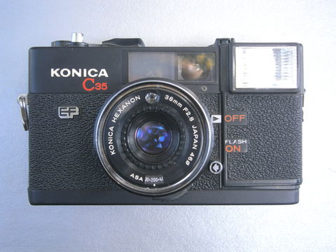 Vintage,70s,Konica,C35,Camera,EF,35mm,Film,38mm/,F2.8,Hexanon,Japanese,Black,Case,Retro,Flash,Light,Meter,Collectors,Collectible,Collezione,vintage 70s ef konica c35 camera, vintage 70s konica, vintage japanese camera vintage 35mm film camera, konica hexanon, collectible konica camera, vintage flash light meter, villa collezione, f2 8 aperture, retro 70s black case camera, villacollezione