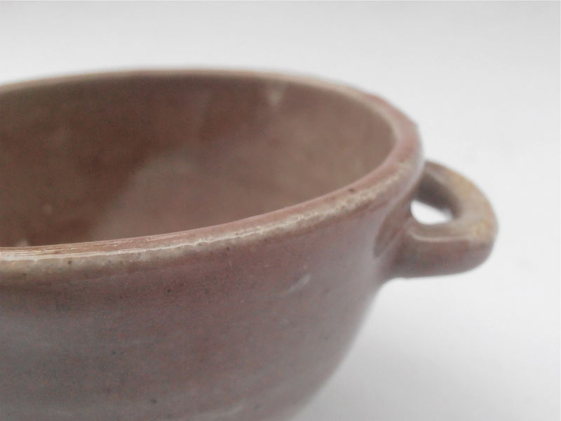 Vintage Pinkish Brown Cup Tea Drinking Vessel Earthenware Small Ceramic Bowl Espresso Coffee Western Southwestern Pottery Stoneware Taza - product images  of