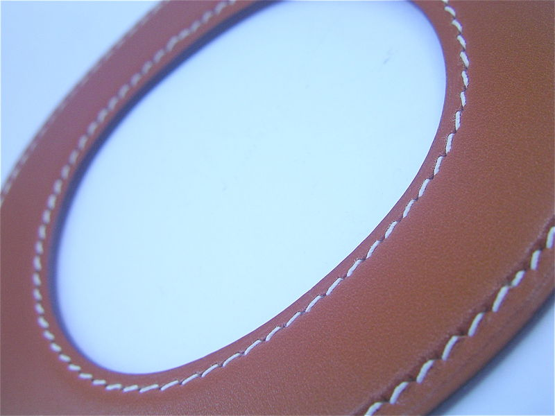 Authentic Rare Hermes Leather Flat Disc Bracelet Pre Owned - product images  of