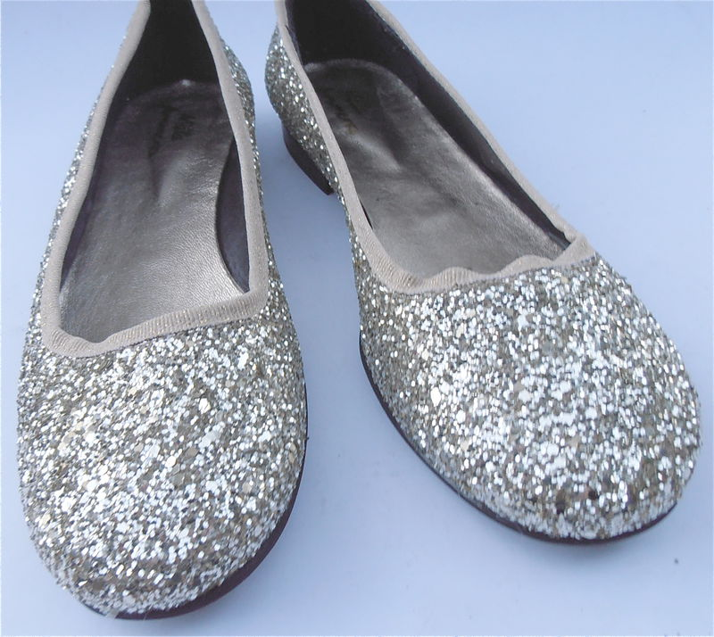 Glitter Ballet Flats Shoes Confetti Dorothy Sparkle New Ladies Size 7.5 - product images  of