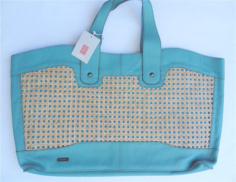 Pre,owned,Stefanel,Bag,Designer,Green,Leather,Oversized,Woven,Purse,Tote,Italian,Large,Shoulder,pebble grain leather bag, pre owned stefanel bag, italian leather bag, green leather bag, oversized stefanel bag, stefanel shoulder bag, stefanel large tote, large designer bag, woven natural fiber bag, leather weekender, green cruise bag, large leather t