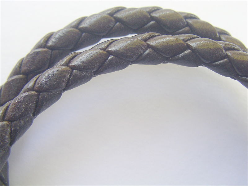 Bottega Veneta Leather Bracelet Designer Woven Braided Double Strand - product images  of