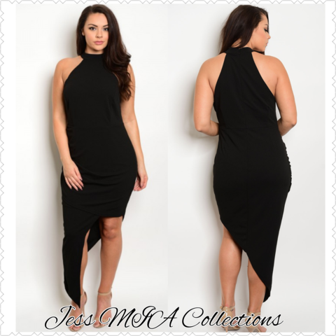 The,Ebony,Dress,assymetrical, black dress, dresses, curvy girl, ebony, Jess MIA Collections