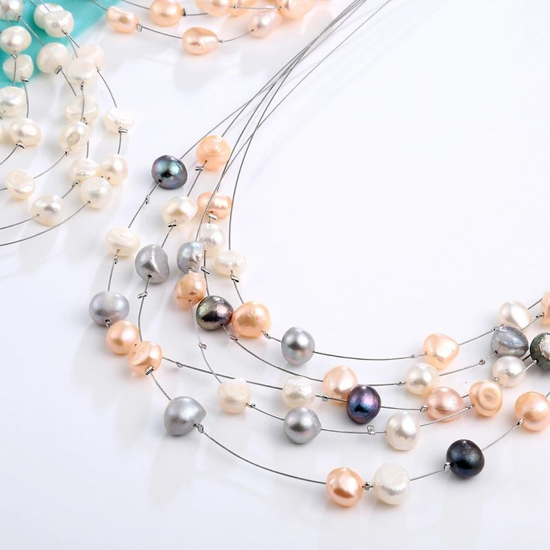 New Arrival! The Frosted Pearl Necklace - product images  of