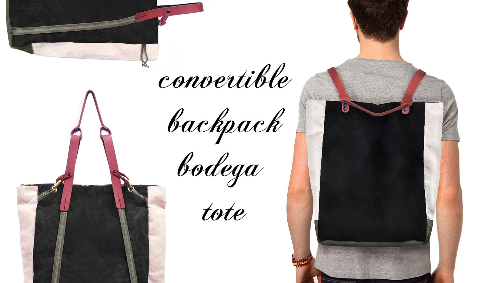 Convertible Bodega Tote Backpack