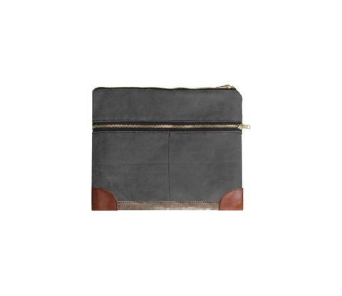 Everything,iPad,Case,,Waxed,Canvas,,Leather,,Custom,Dyed,in,Confederate,Grey,Bags_And_Purses,pouch,gadget_case,ipad,ipad_mini,case,iphone,waxed_canvas,leather,water_resistent,canvas,olive,grey,cream