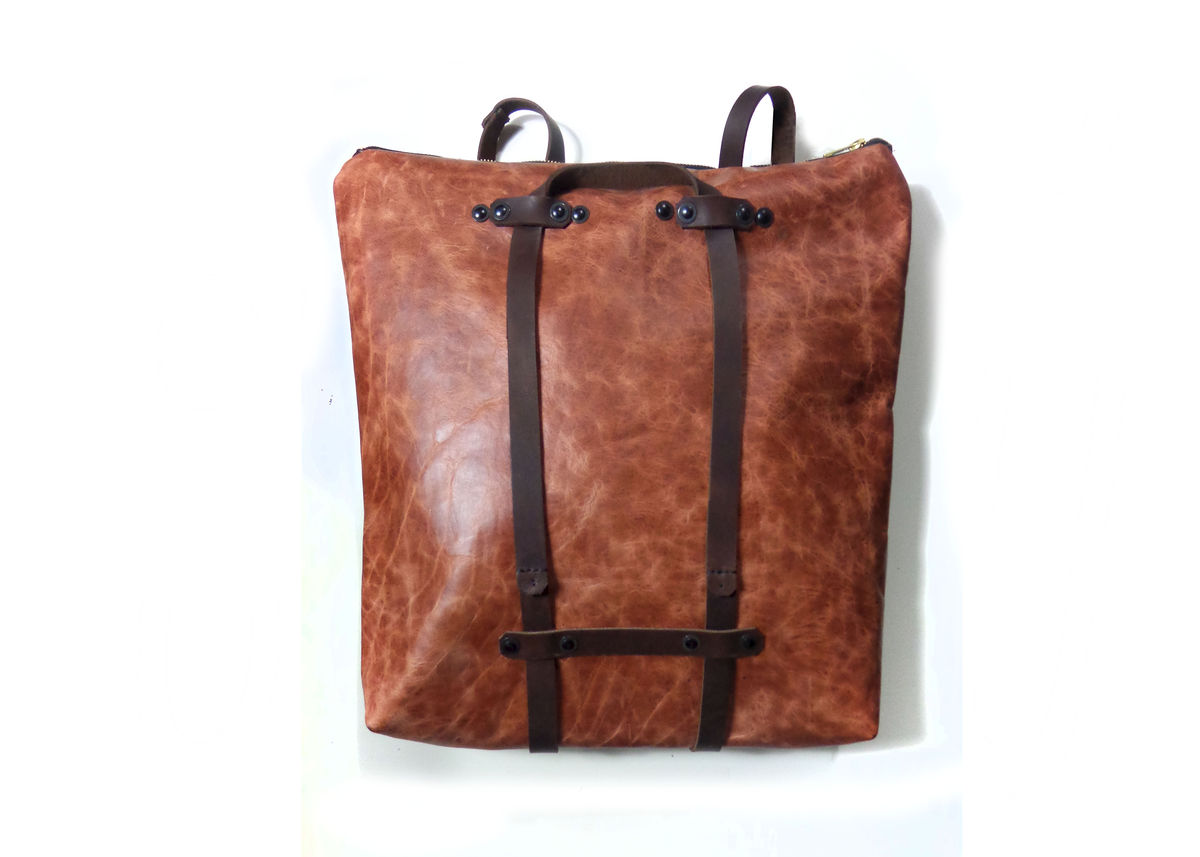 Bison Leather Convertible Tote Backpack - Mclovebuddy Store
