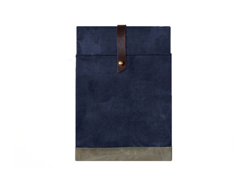 Sessa,Carlo,iPad,Case,-,Navy,Bags_And_Purses,Laptop,Padded,leather_ipad_case,canvas_ipad_case,Amalfi Turquoise, leather,chrome_buckle,olive,brown,sessa_carlo,hand_waxed,waxed_canvas,military,utility,red,wool,brass,leather,canvas,blue