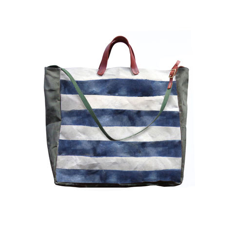 Convertible,Bucket,Tote,,Crossbody,Messenger,-,Watercolor,Indigo,Stripes,bag_Convertible_Tote_Bucket_Crossbody_messenger_waxed_canvas_Leather_work_market_beach_picnic_gym_olive_natura_indigo_stripesl