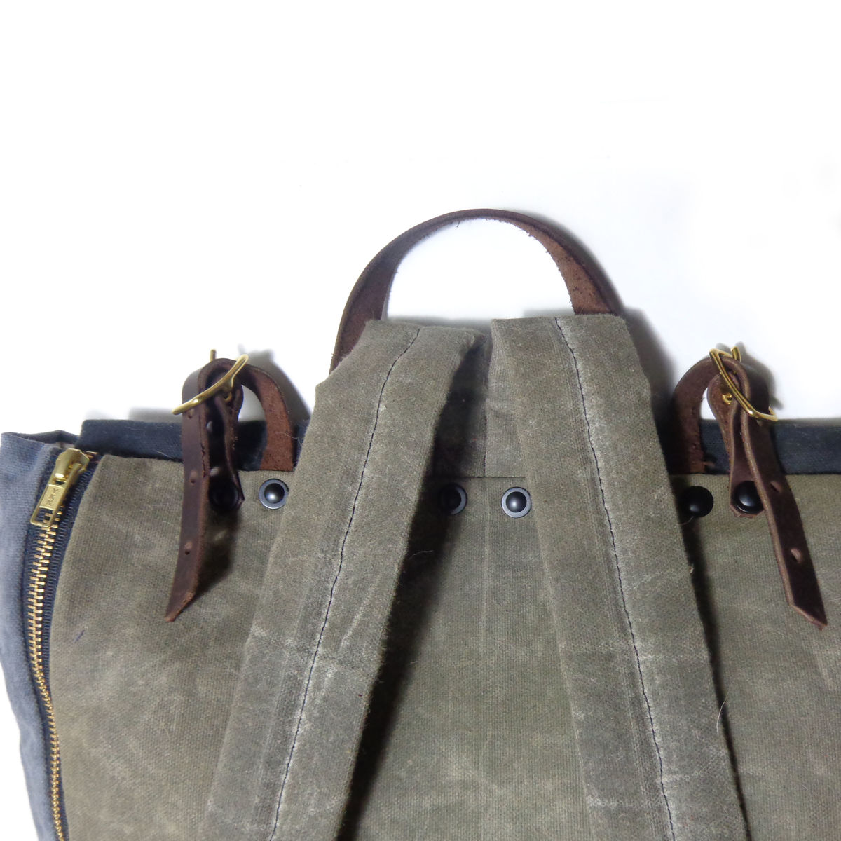 Convertible Laptop Backpack, Tote Strap - Navy, Stripe, Olive - product images  of