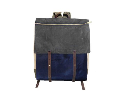 Convertible,Laptop,Backpack,,Pannier,-,Charcoal,convertible,pannier,Backpack,laptop,waxed,canvas,leather,rucksack,safari,olive,red