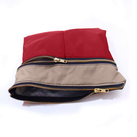 4,Zip,Pocket,Gadget,Pouch,,Red,pouch,organizer,case,gadget,ipad,iphone,nylon,waterproof,khaki