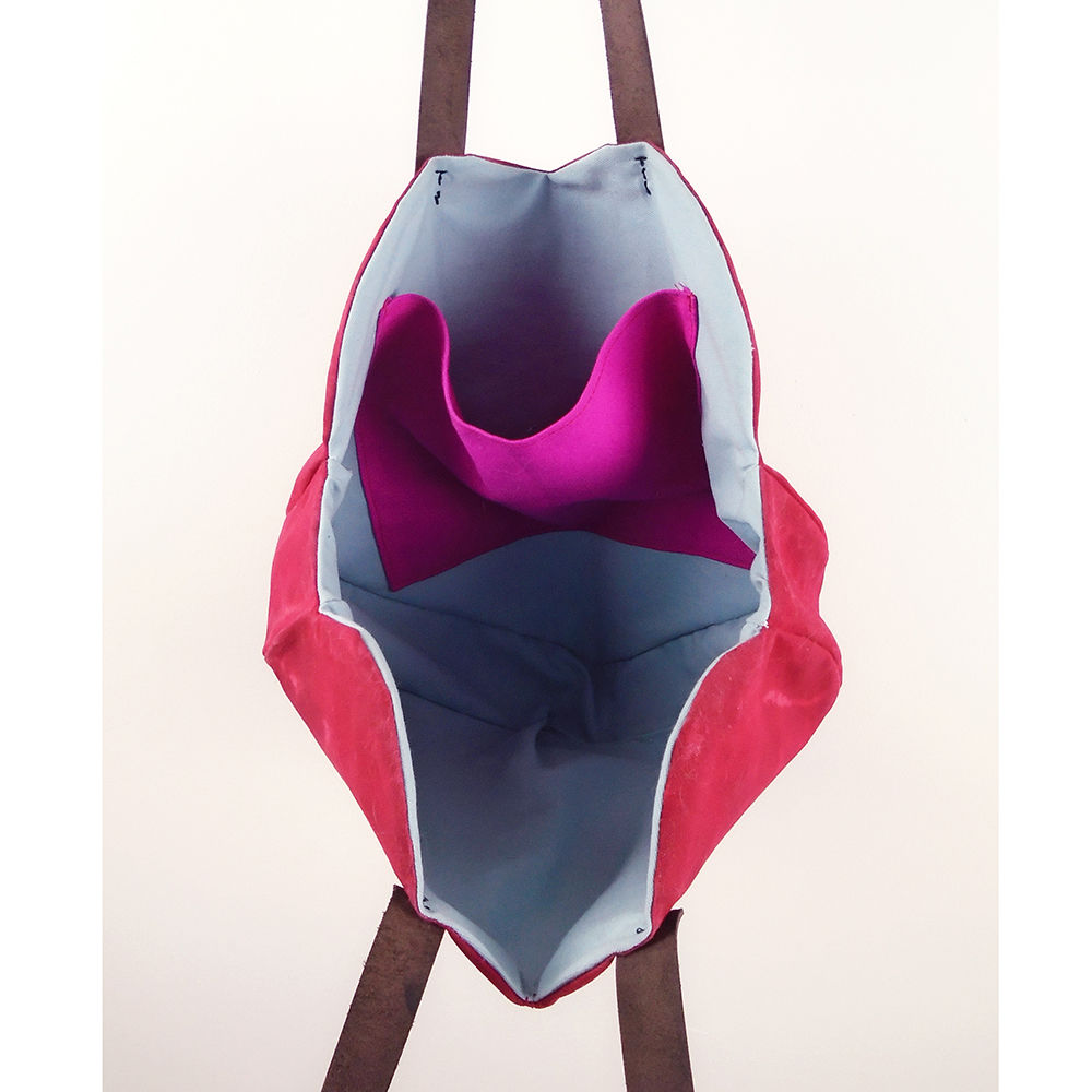 Waxed Canvas Heart Tote - Red - product images  of