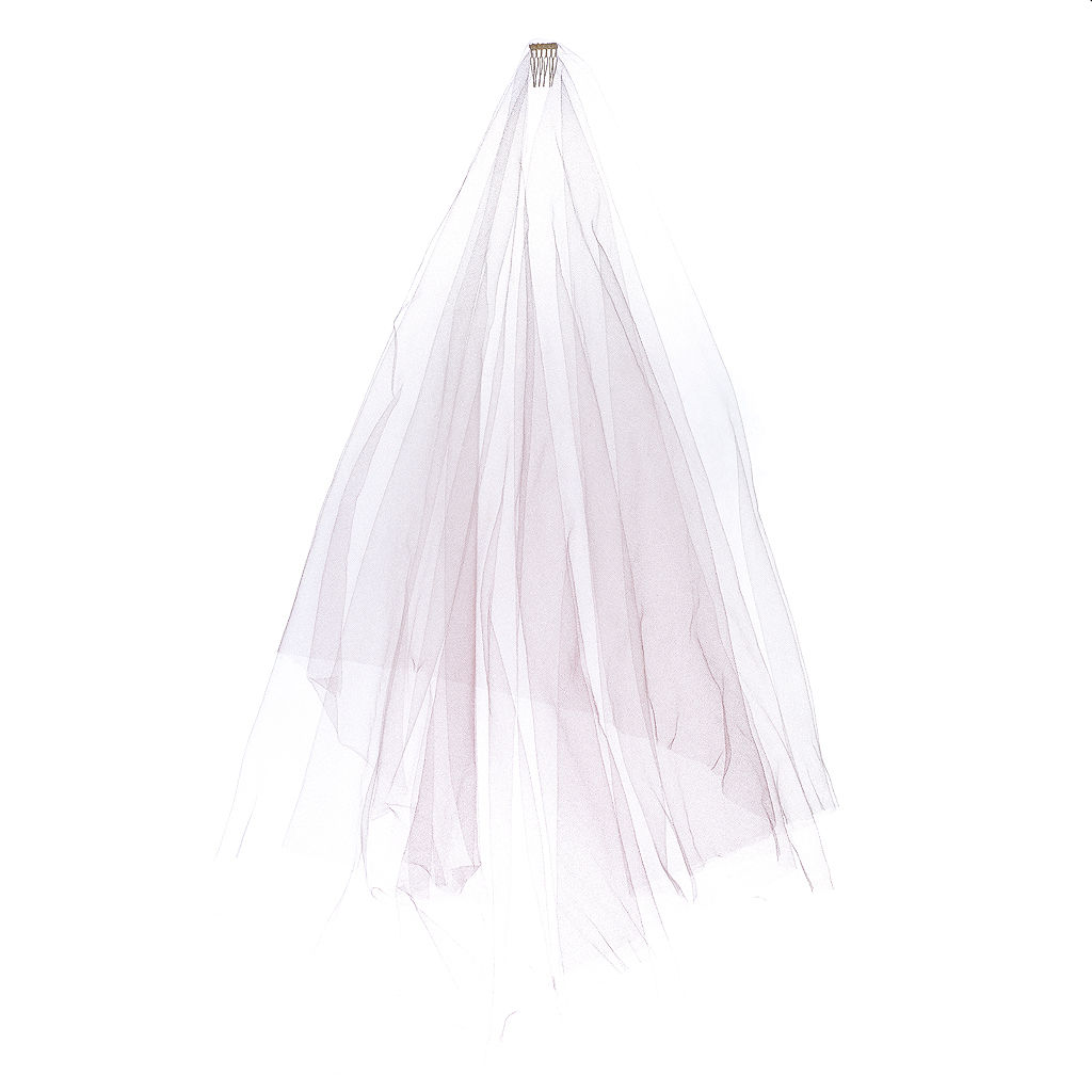 Blush Dip-Dye Veil - product images  of