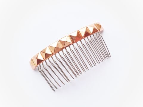 Rose,Gold,Stud,Hair,Comb,bridal hair comb leather rose gold