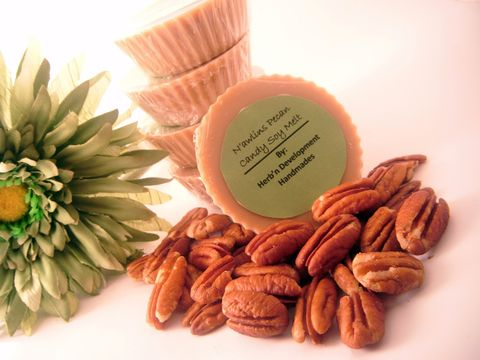 N'awlins,Pecan,Candy,Soy,Melt,Candles,Scented,Aromatherapy,tart,tea_light,travel,soy,vegan,cinnamon,vanilla,spicy,praline_pecan,herbndevelopment,herbn_development,new_orleans,soy_wax,fragrance_oil,colorant