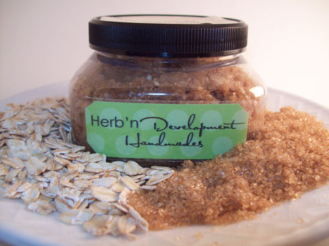 Warm,Sugar,Cookie,and,Oats,Scrub,Bath_and_Beauty,Bath,body,soap,herbndevelopment,herbn_development,scrub,scented,skin_care,oil,shower,massage,vegan,Sugar_cookie,organic_turbinado_brown_sugar,ground_oats,extra_virgin_olive_oil,castor_seed_oil,safflower_oil,chammomile_infused_sw