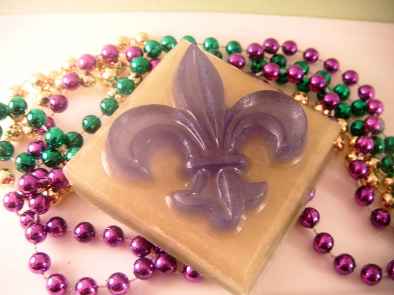 WHO DAT Bath Bar Mardi Gras Edition - product images  of