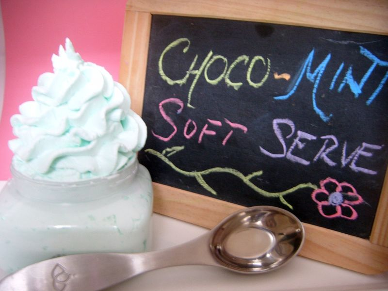 Chocolate Mint Soft Serve Soap - SOLD OUT - product images  of