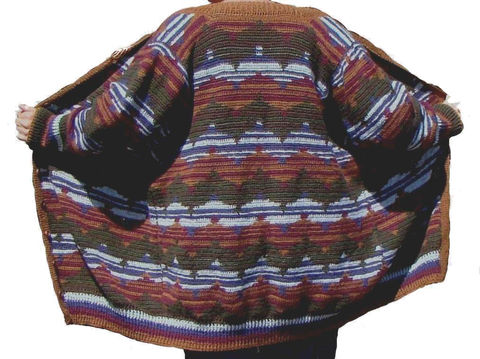 Plus,Size,Sweater,Coat,,Wool,2X,3X,,Kaffe,Fassett,Motif,plus size sweater, sweater plus size, handmade sweater, designer sweater, stylish plus size, plus size fashion,wool sweater,alpaca,cardigan,sweater coat,2x,3x,earth tones,kaffe fassett,knit sweater, crochet sweater
