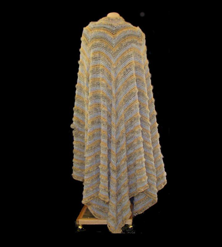 Plus Size Cape,  Formal Evening Cape Size 1X, Plus Size Crocheted Cape, Evening Wrap - product images  of