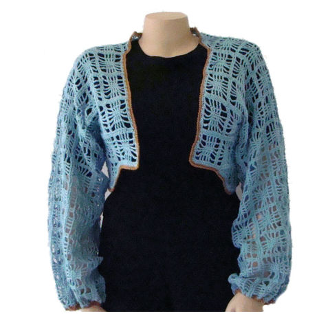 Plus,Size,Shrug,2X,,Bolero,,Crochet,Lace,plus size sweater, sweater plus size, handmade sweater, designer sweater, stylish plus size, plus size fashion,silk,ramie,plus size bolero,bolero plus size,plus size shrug,shrug plus size,2X ,size 2x, blue shrug,crochet lace,lace shrug