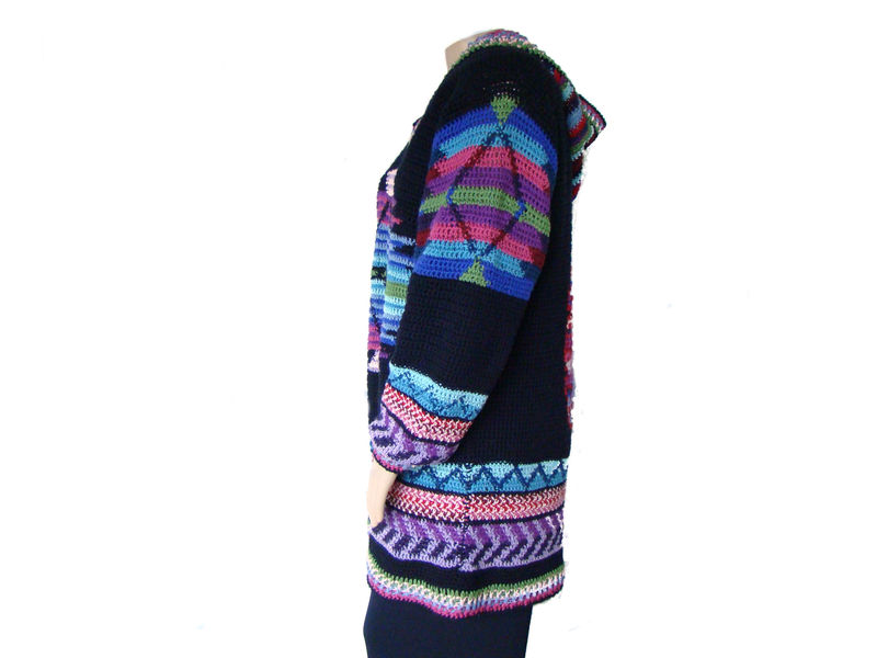 Plus Size Sweater, Plus Size Tunic Sweater 1X, Crochet Sweater - product images  of