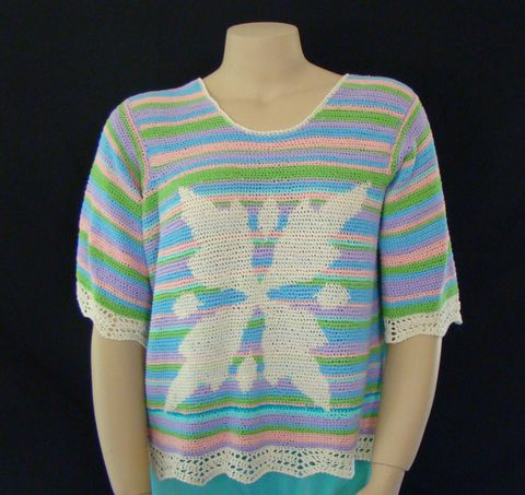 Plus,Size,Top,,Summer,Top,XL,,XXL,1X,,Short,Sleeve,plus size top,top plus size, handmade, designer, junior plus size, cotton,bamboo,pullover,pastel,tapestry crochet.summer top,lightweight top,knit top,crocheted top,short sleeve top