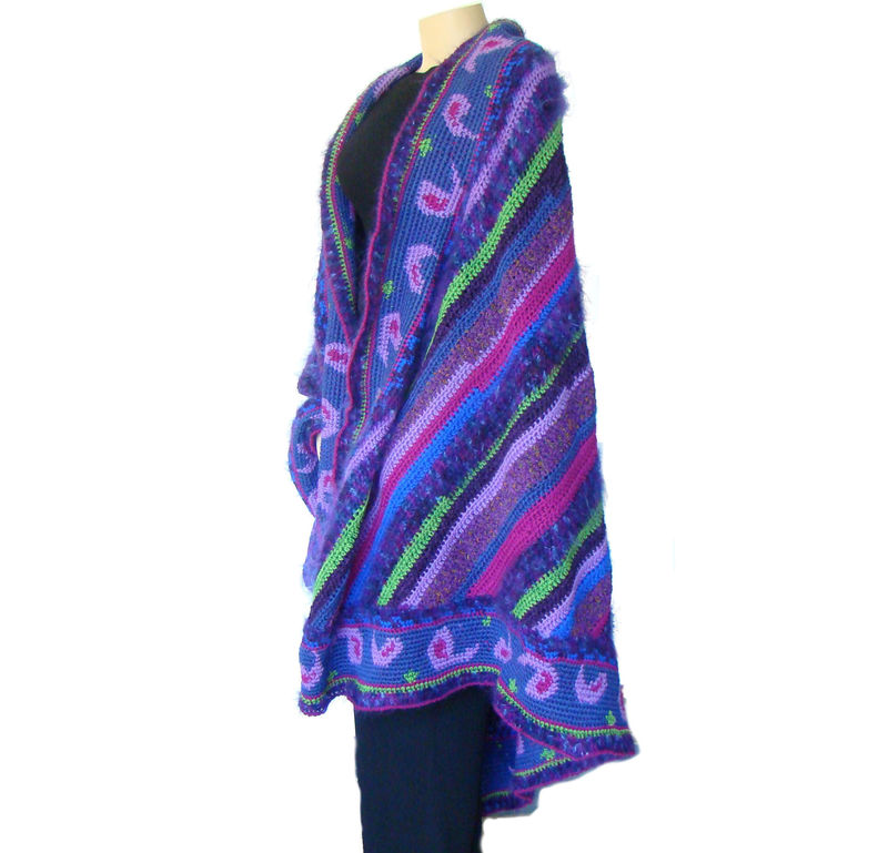 Plus Size Cape, Plus Size Fashion Shawl, 1X 2X 3X 4X 5X 6X, Super Plus Size - product images  of