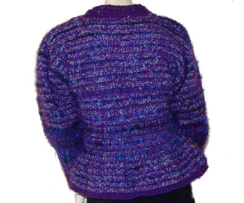 Peplum,Jacket,,Sweater,,Purple,Mohair,/,Angora,Large,womens sweater,peplum jacket,peplum sweater,mohair sweater,purple sweater