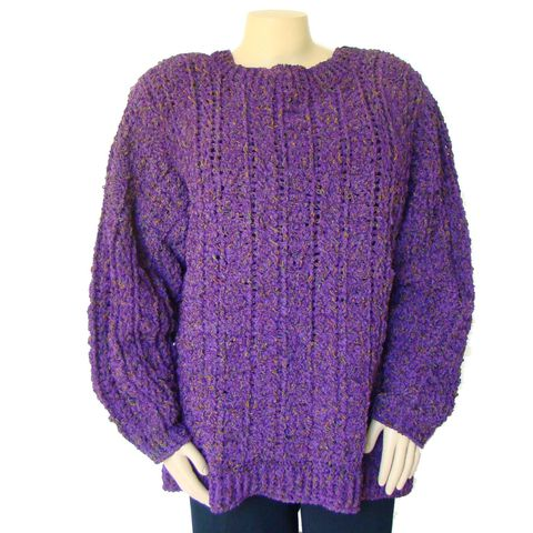 Plus,Size,Fisherman,Sweater,2X,-,3X,,Irish,Sweater,,Purple,Aran,plus size sweater,plus size fisherman sweater, plus size irish sweater, 2x sweater, 3X sweater