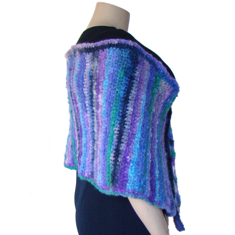 Plus Size Shawl Wrap, Plus Size Wool Shawl, Crochet Shawl 1X 2X 3X - product images  of
