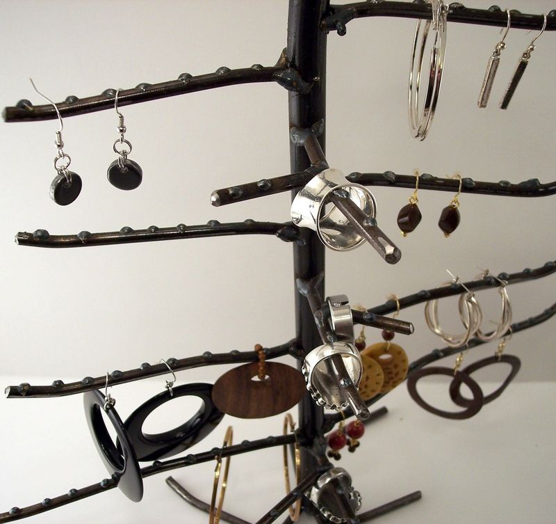 Large Earring And Ring Tree Earring And Ring Display Rack Custom Large Jewelry Tree Display Stand