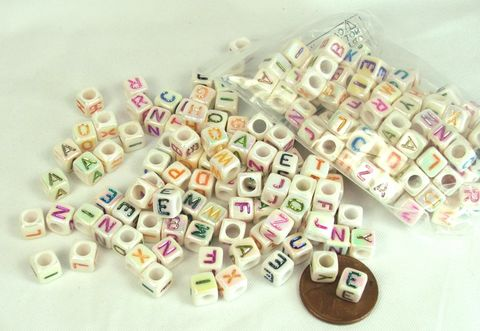 Alphabet,Beads,with,ab,finish,Cube,letter,beads,Craft supply, letter beads, alphabet beads, cube letter beads, cube alphabet beads, square beads