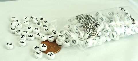 Alphabet,Beads,White,with,Black,Letters,Acrylic,Coin,Personalized,Jewelry,supply,Alphabet Beads, White beads with Black Letters,Acrylic Coin Beads, Personalized Jewelry supply