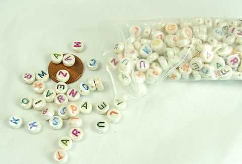 Coin,Letter,beads,with,a/b,finish,200,pieces,flat,round,alphabet,coin beads, letter beads, plastic letter beads, jewelry supply, craft supply, coin letter beads ab finish, alphabet beads