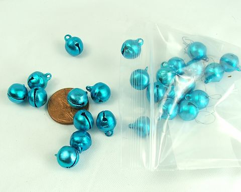 Blue,Jingle,Bells,10mm,bell,charms,25,pieces,craft,supply,Blue jingle bells, craft supply, 10mm bells, 1/2 inch bells