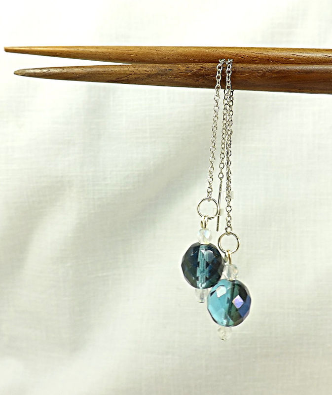 circle oxidised global glass blue online shop at silver earrings