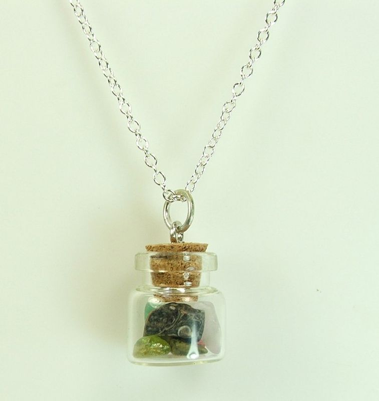 put seeds make a crystal bottle dandelion perfume necklace mini wish glass detail pendant product can