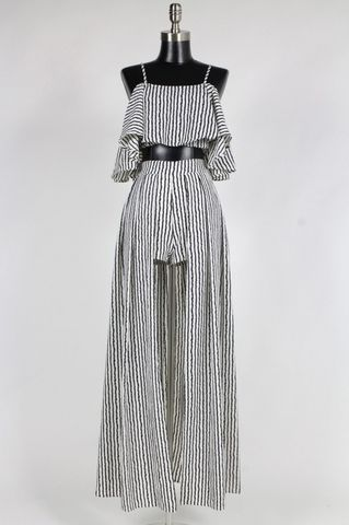 LOS,ANGELES,STRIPED,TWO,PIECE,JUMPSUIT
